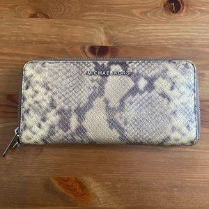 Snakeskin MK wallet